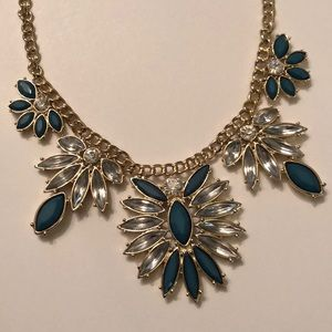 Gold and Forrest Green Statement Necklace